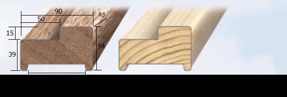 Inmetselkozijn stomp wit 56x90x2315mm grenen bovendorpel